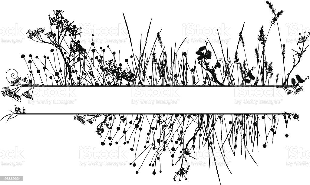 Grass silhouette frame royalty-free stock vector art