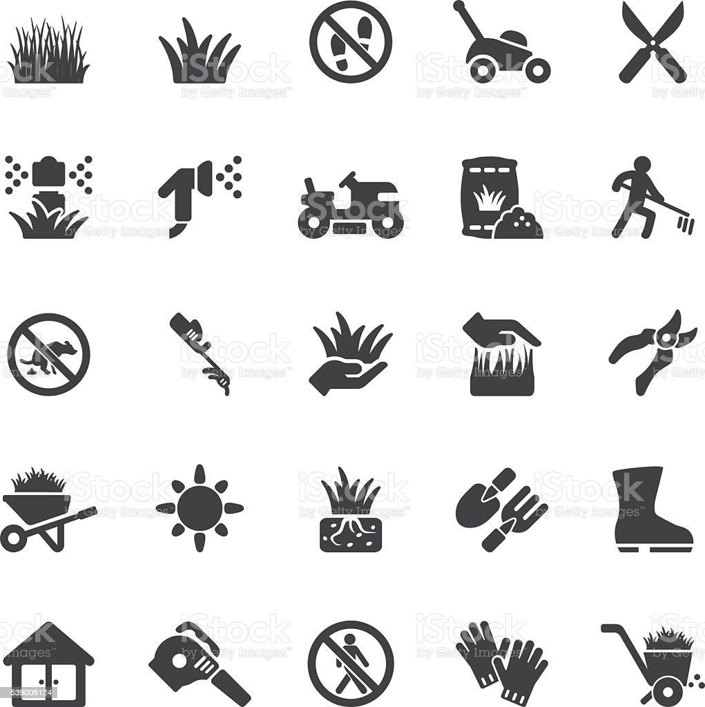 Grass Silhouette icons   EPS10 vector art illustration