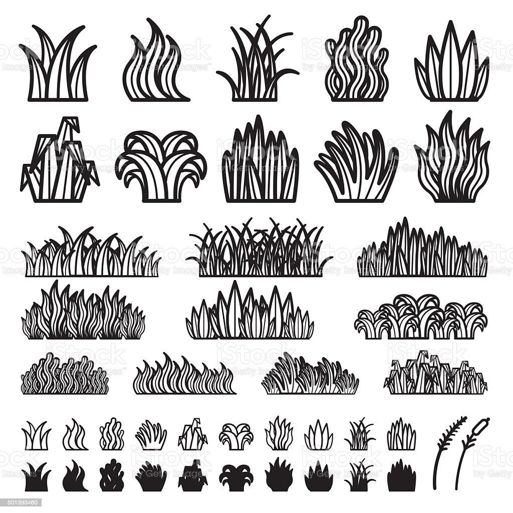 Grass Vector vector art illustration