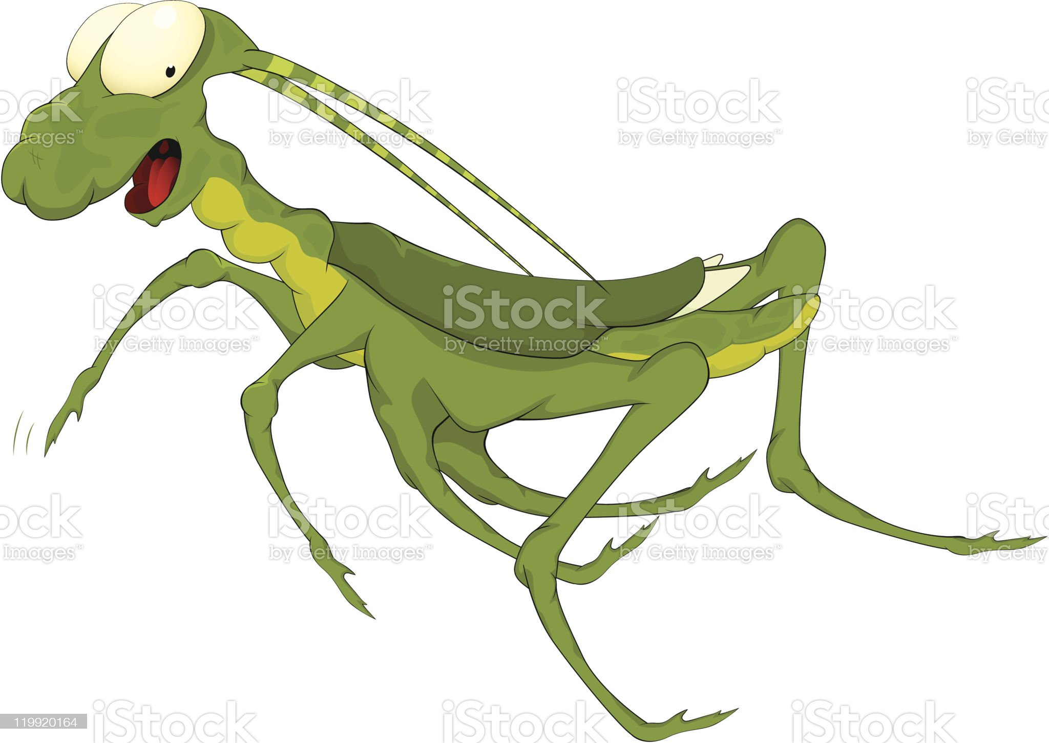 Grasshopper from a fairy tale royalty-free stock vector art