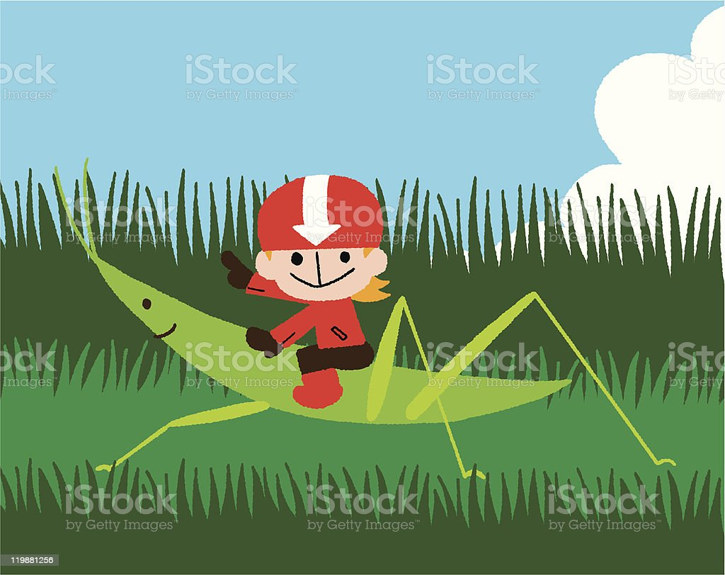 grasshopper rider royalty-free stock vector art