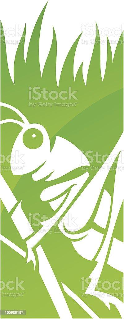 Grasshopper symbol vector art illustration