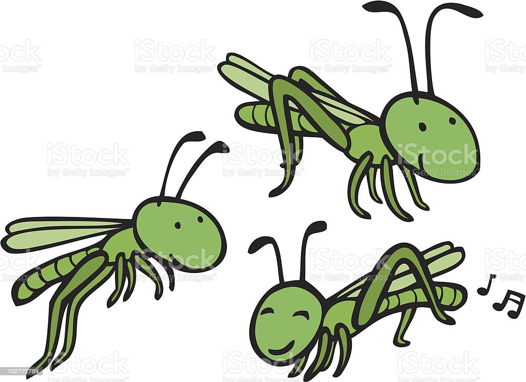 grasshopper royalty-free stock vector art