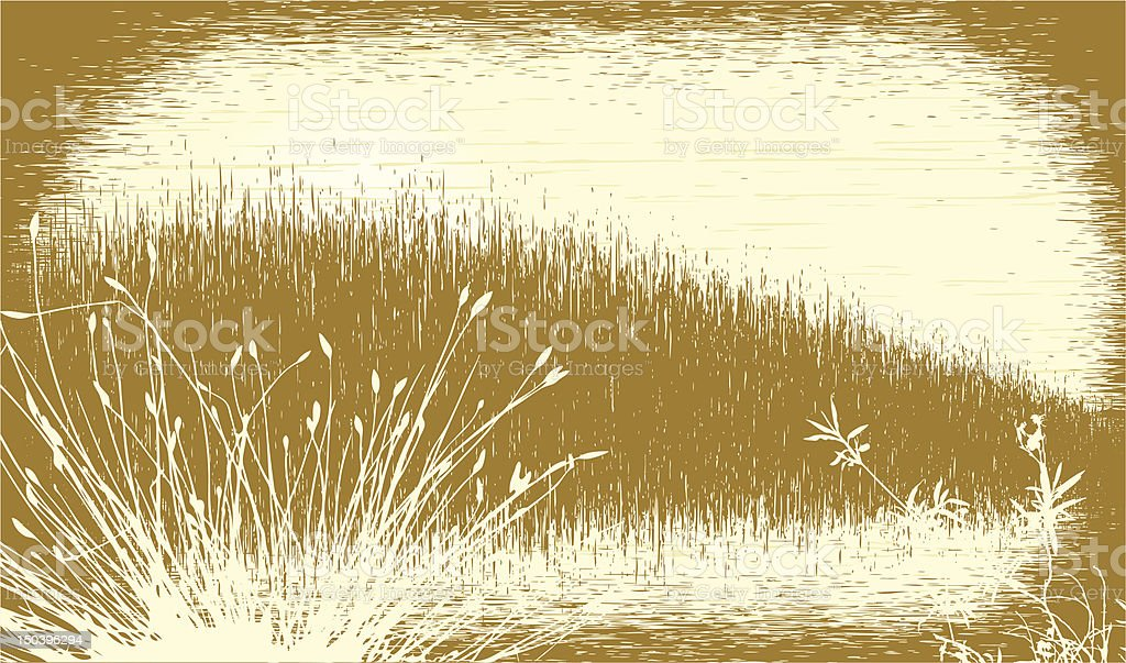 Grassy grunge royalty-free stock vector art