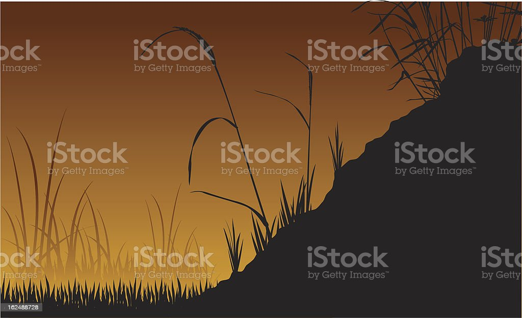 Grassy Silhouette royalty-free stock vector art