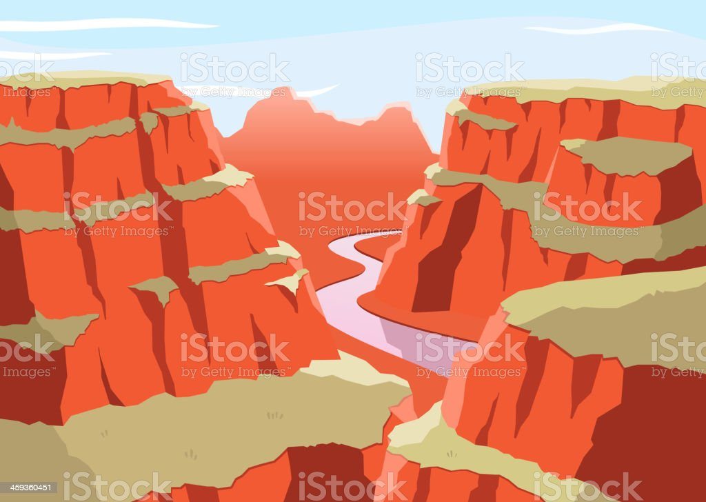 Grat Canyon National Park Arizona United States Colorado Plateau vector art illustration