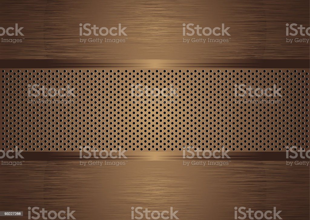 gratted bronze brushed royalty-free stock vector art