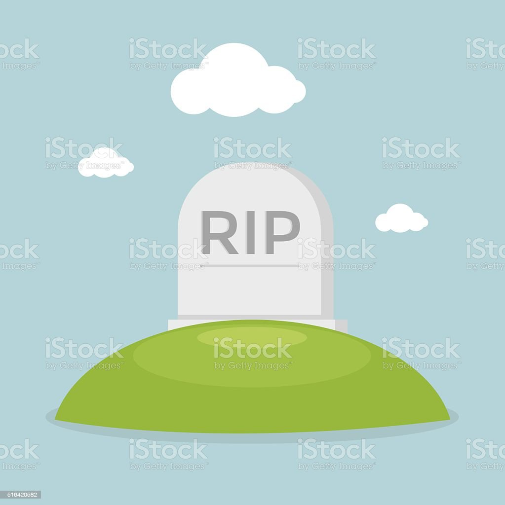 Grave flat design vector vector art illustration