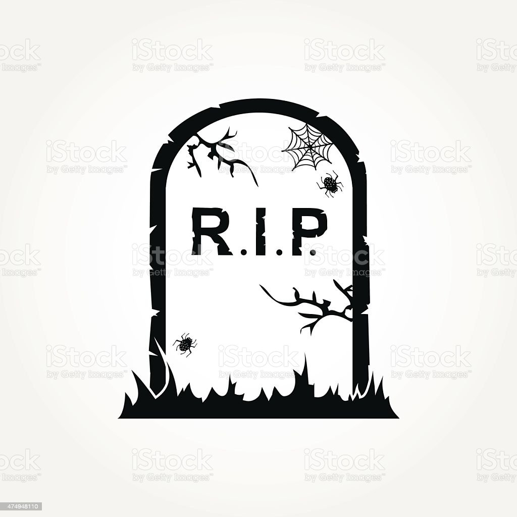 Gravestone Icon vector art illustration