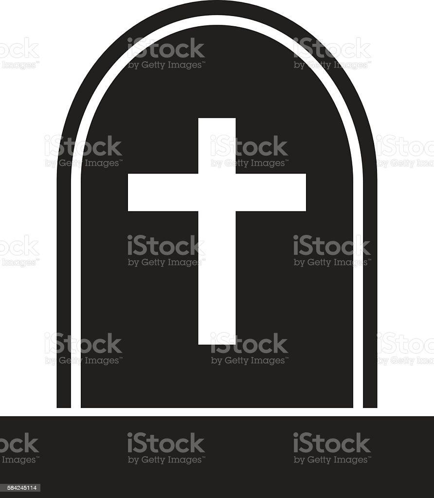 graveyard skull cross vector art illustration