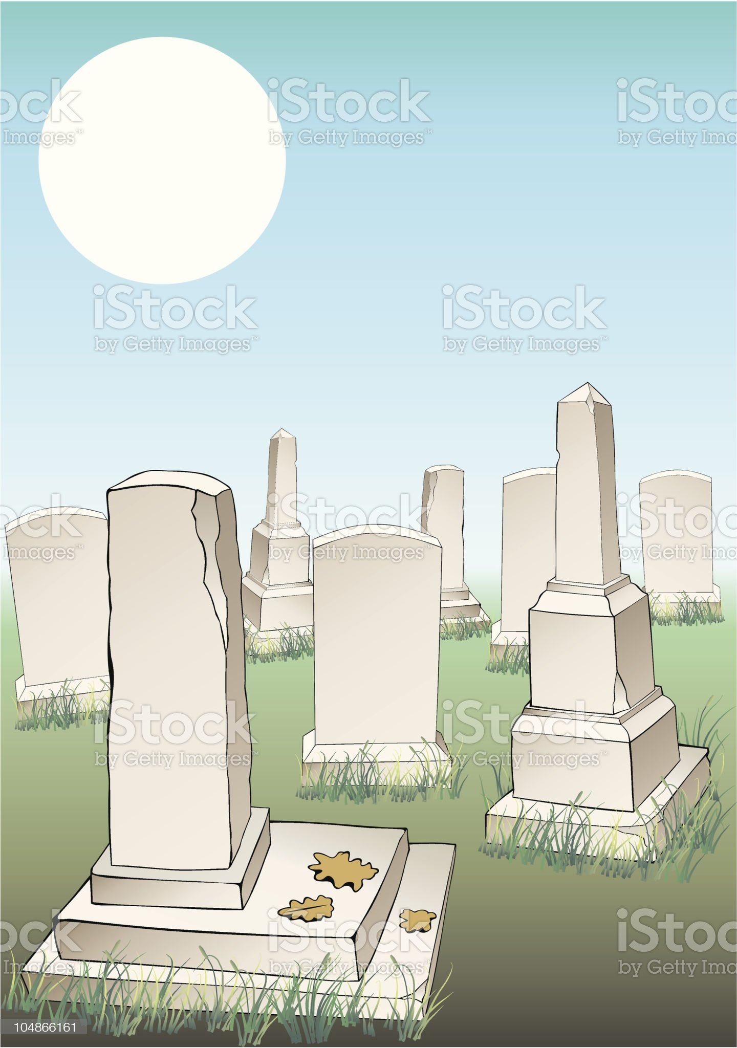 Graveyard royalty-free stock vector art