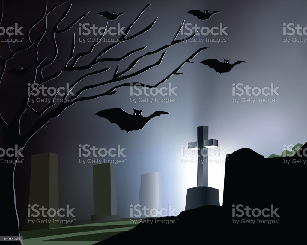 Graveyard royalty-free stock vector art
