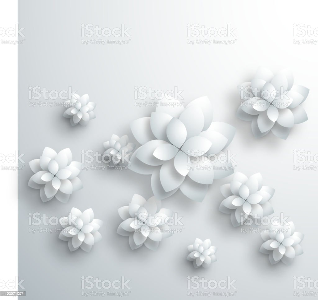 gray 3D floral pattern background vector art illustration