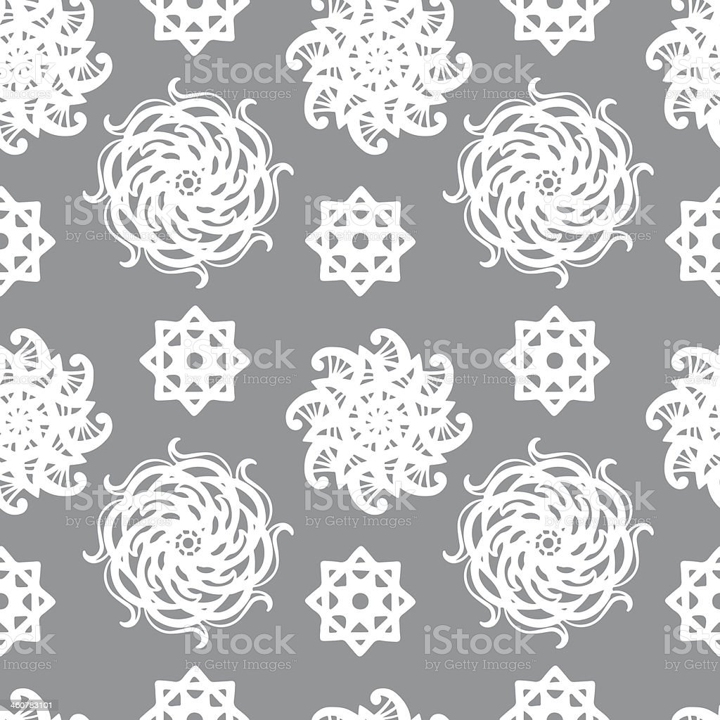 Gray abstract floral seamless pattern royalty-free stock vector art