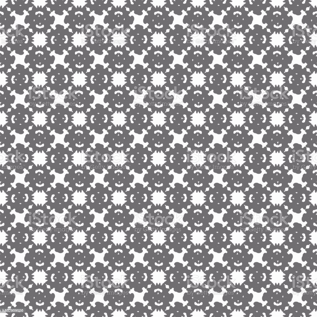 gray abstract objects on a light background seamless pattern vector art illustration