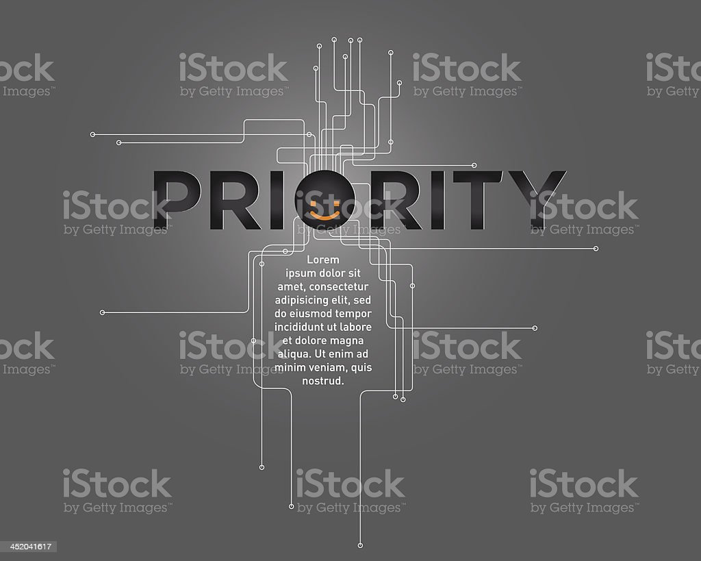Gray and black design with smiley face royalty-free stock vector art