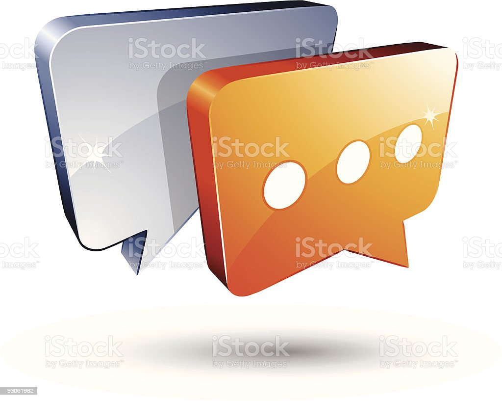 Gray and orange speech bubbles royalty-free stock vector art