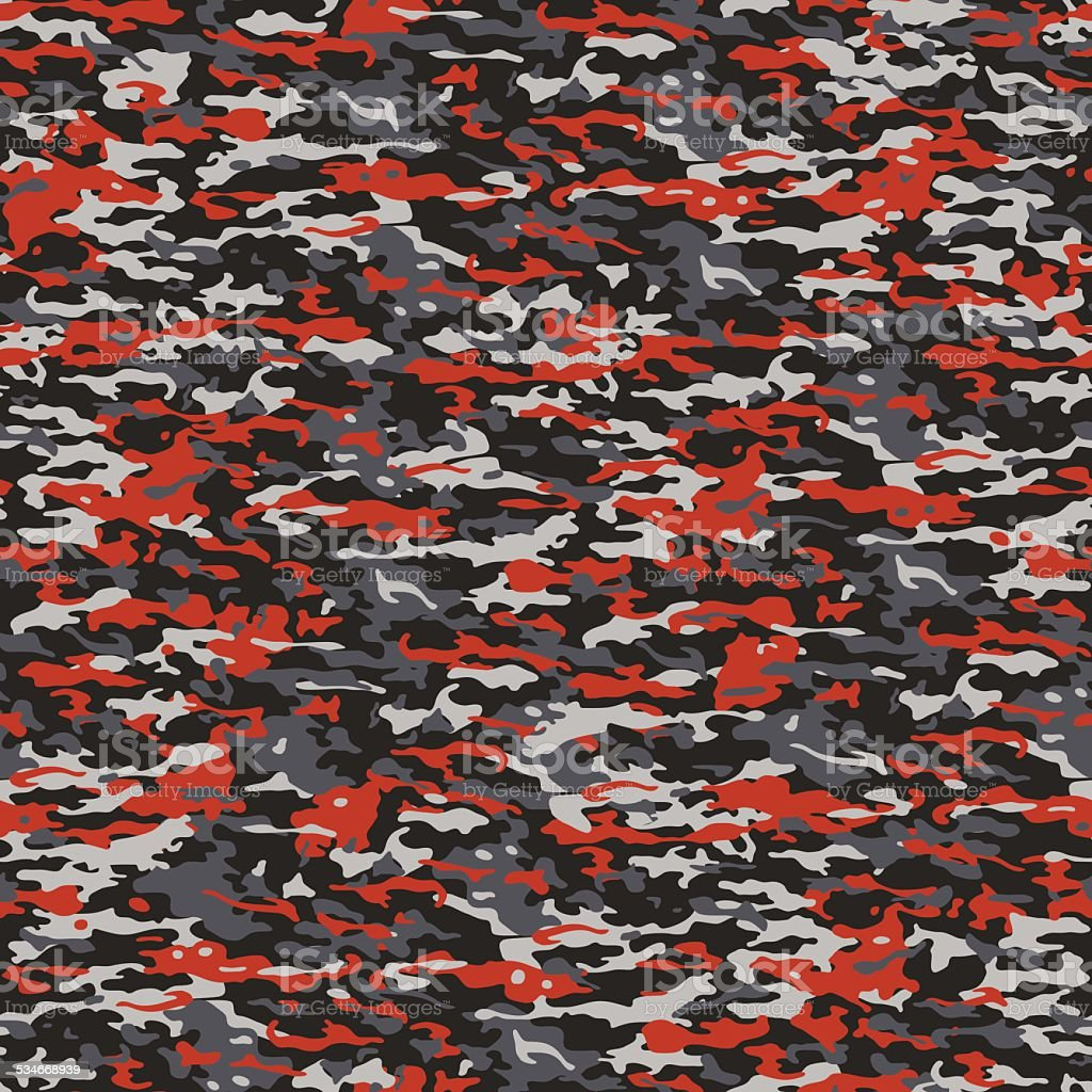 Gray and red camouflage vector art illustration