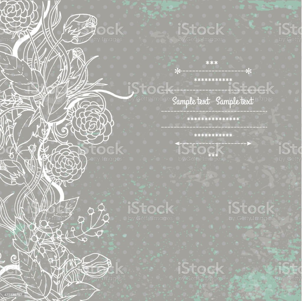 Gray and white floral designed flyer royalty-free stock vector art