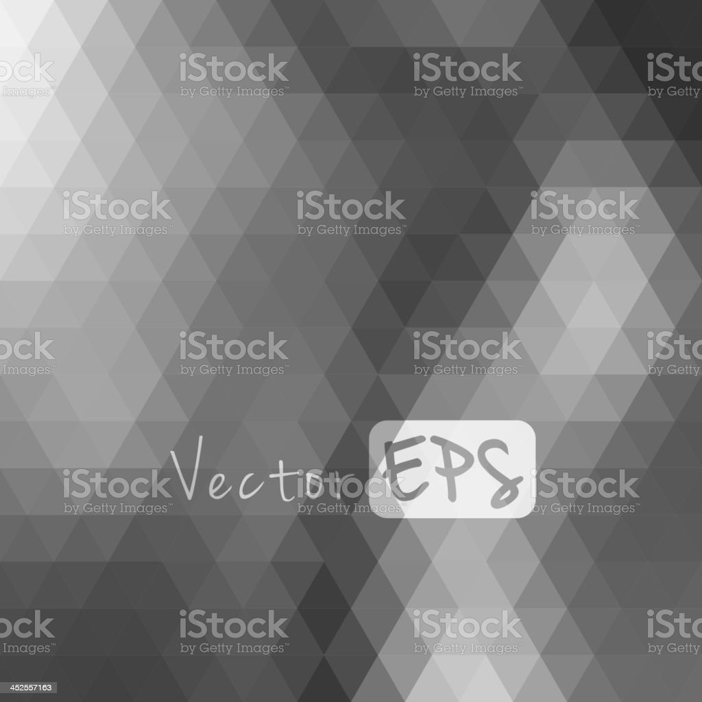 Gray and white hexagon pixelated mosaic background vector art illustration