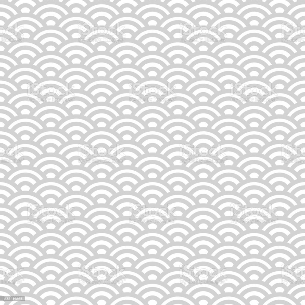 Gray and white japanese seamless pattern vector art illustration