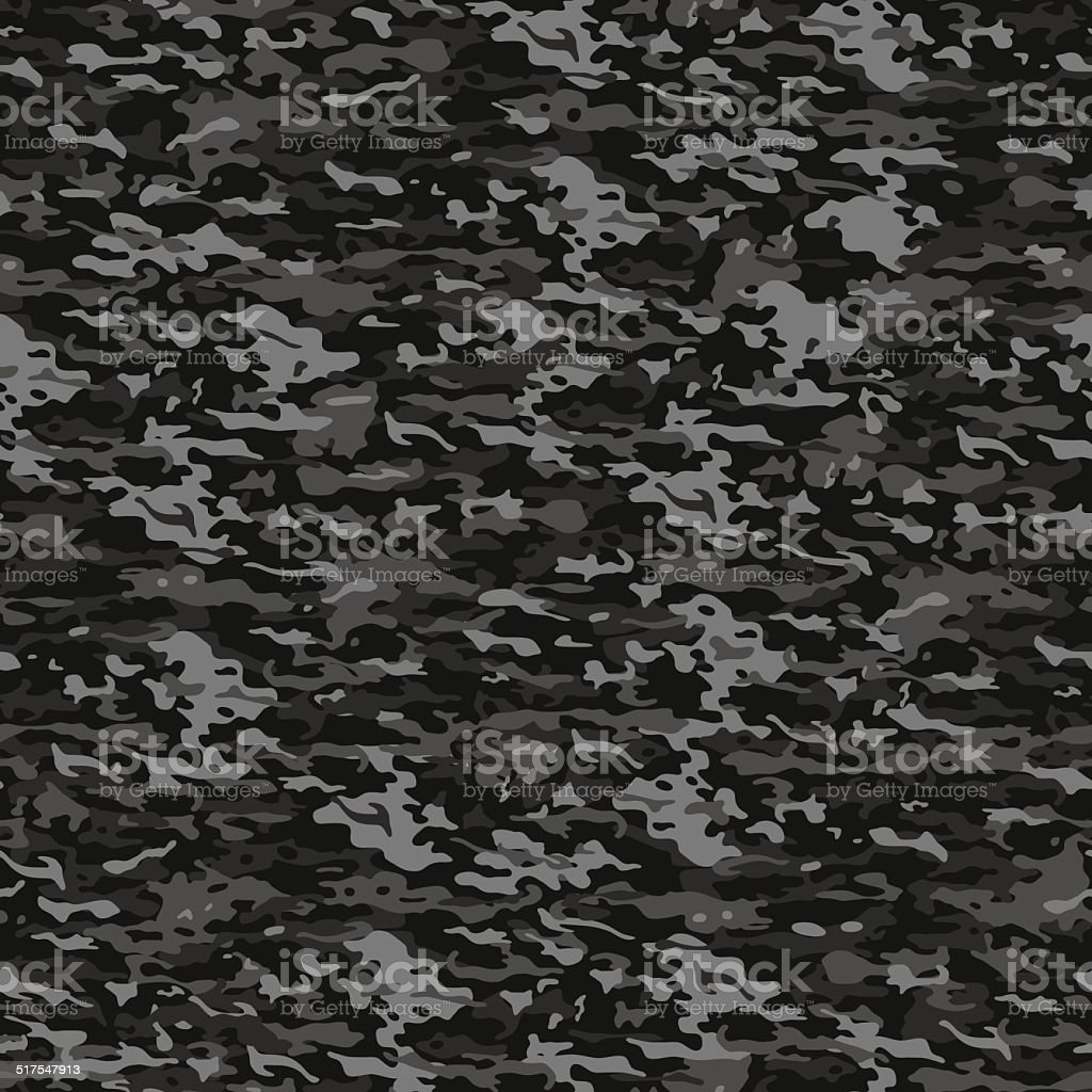 Gray camouflage vector art illustration