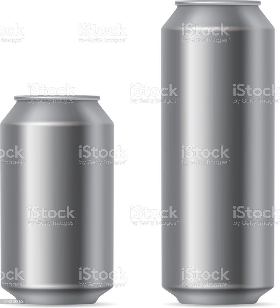 Gray cans vector art illustration