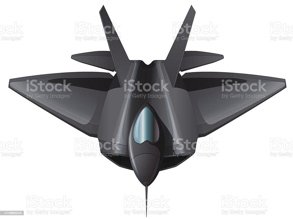 gray fighterjet flying vector art illustration