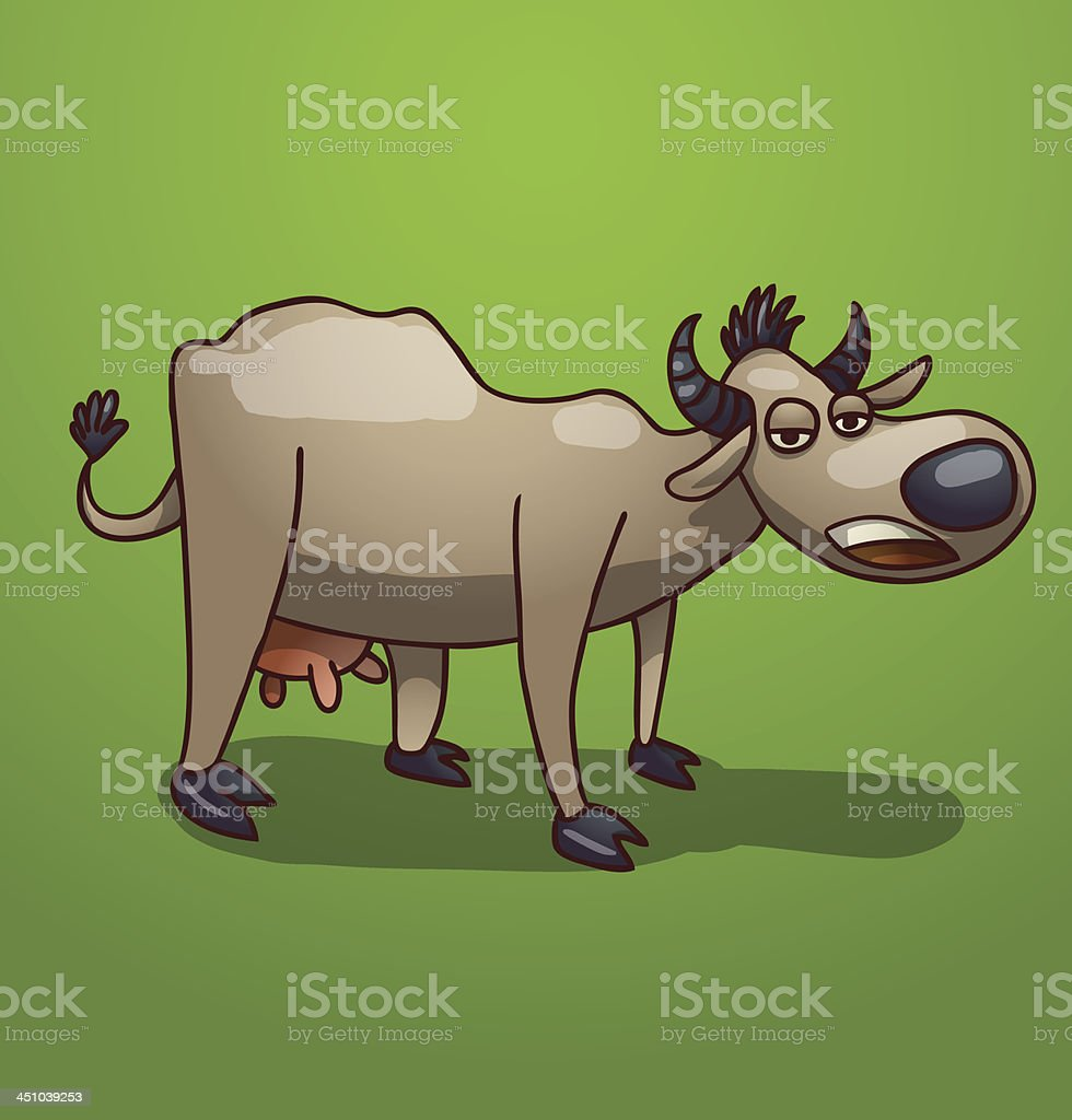 Gray funny cow royalty-free stock vector art