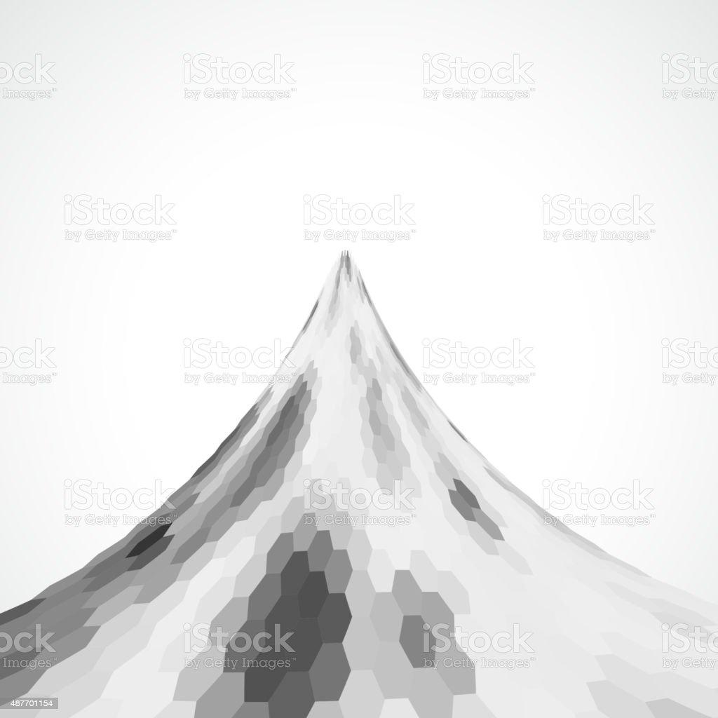 gray hexagon pattern background vector art illustration