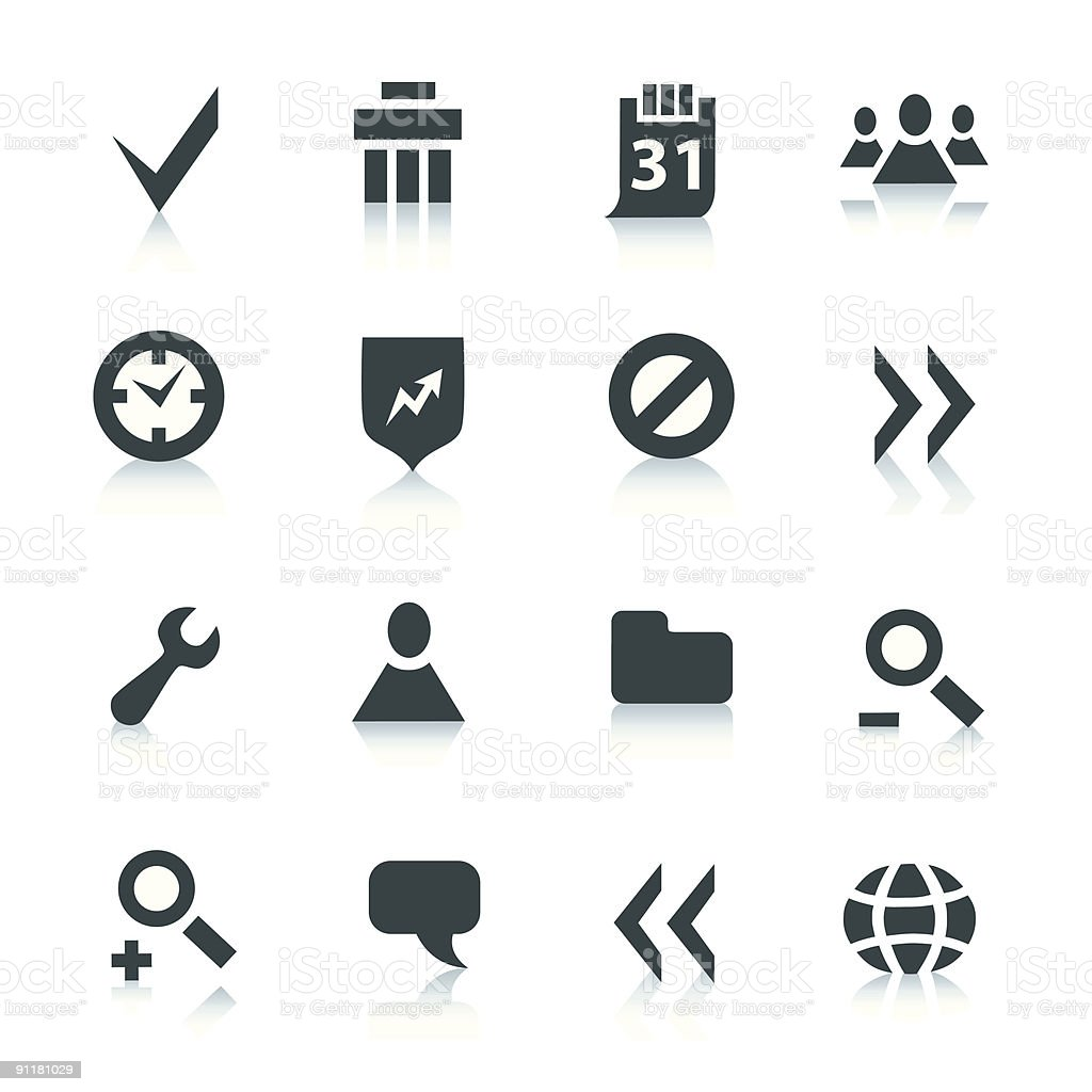 Gray internet icons, part 2 royalty-free stock vector art