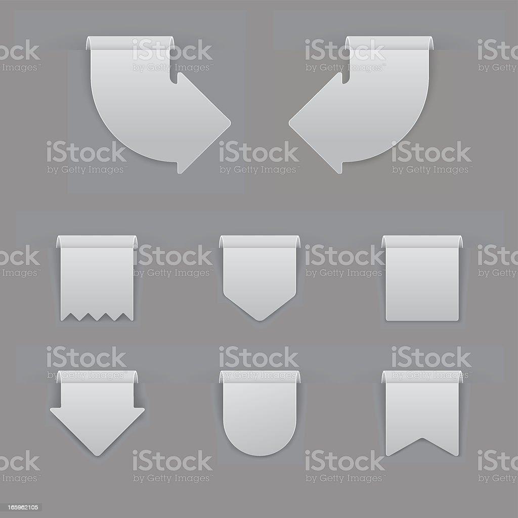Gray Labels Set royalty-free stock vector art