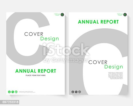Gray Letter Annual Report Cover Design Template Vector Brochure ...