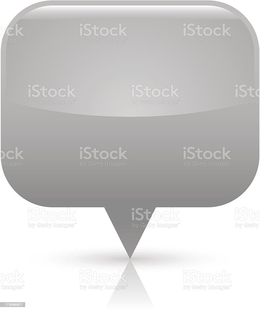 Gray map pin sign glossy icon rectangle pictogram web button royalty-free stock vector art