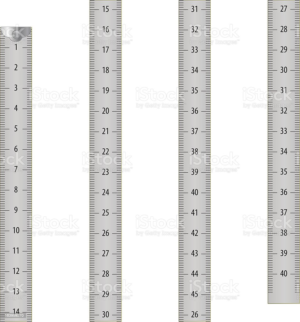 Gray measure tape royalty-free stock vector art