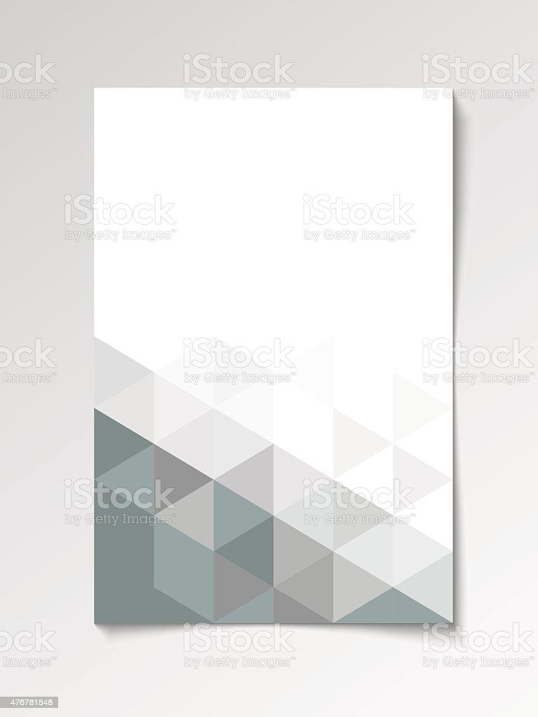 Gray modern flyer design template vector art illustration