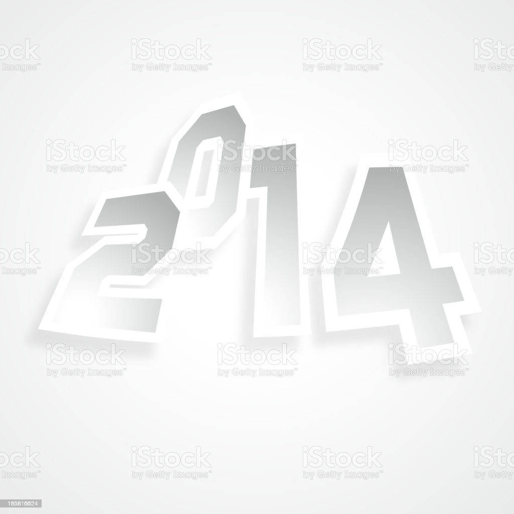 gray new year background royalty-free stock vector art