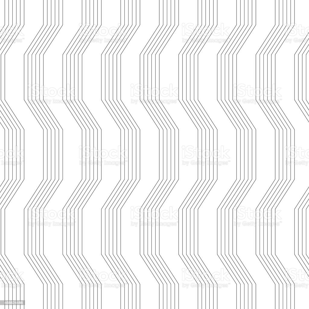 Gray ornament with warping stripes vector art illustration