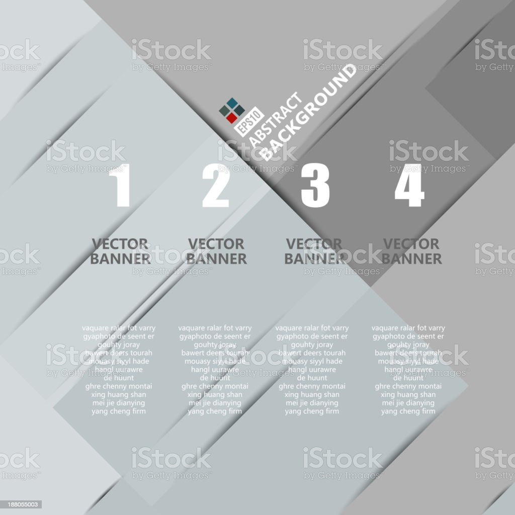 gray paper style banner background royalty-free stock vector art