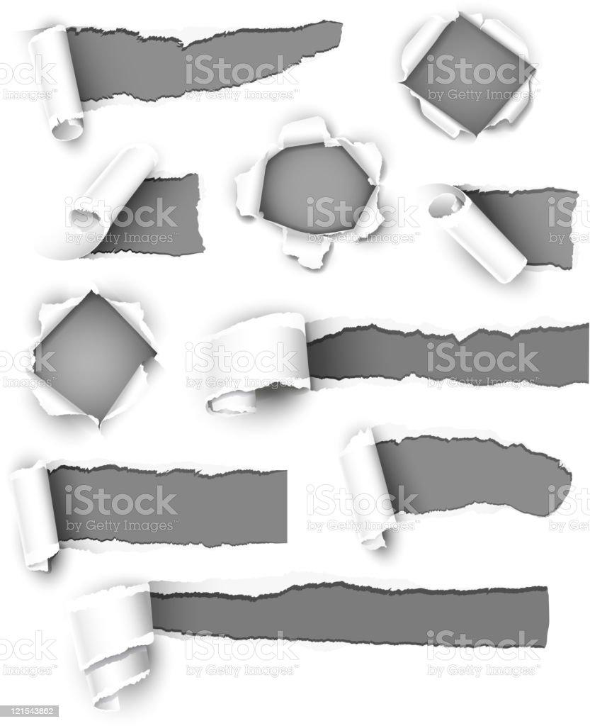 Gray paper vector art illustration