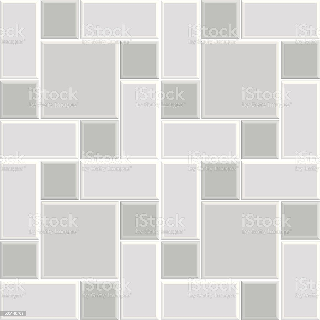 gray pattern tile floor vector art illustration