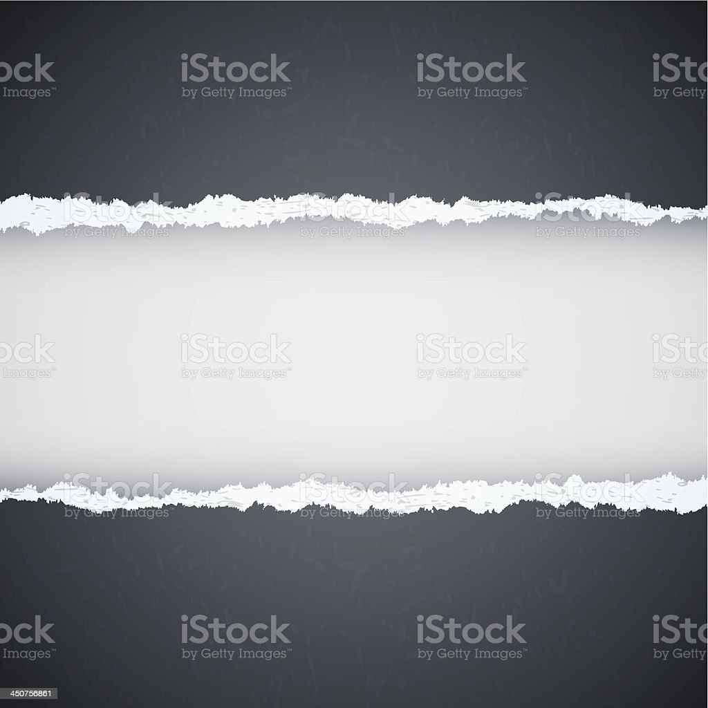 gray ripped paper royalty-free stock vector art