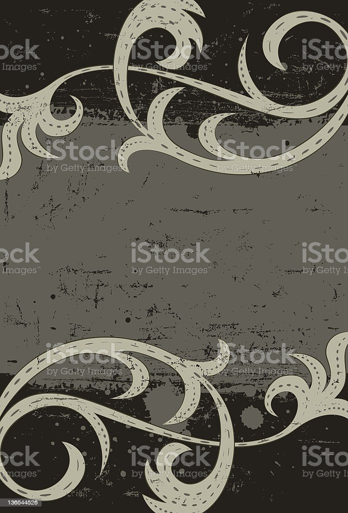 Gray scrolls royalty-free stock vector art