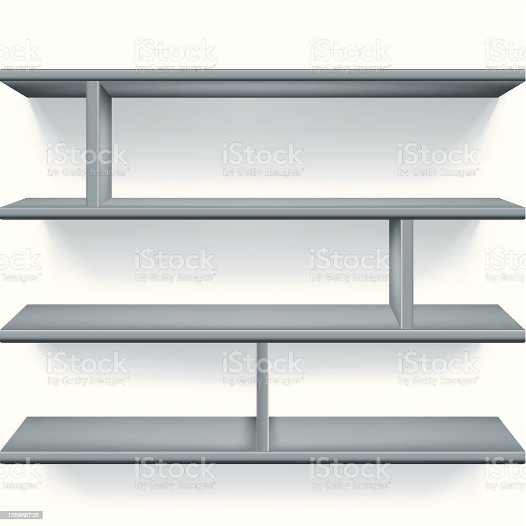 Gray shelves royalty-free stock vector art