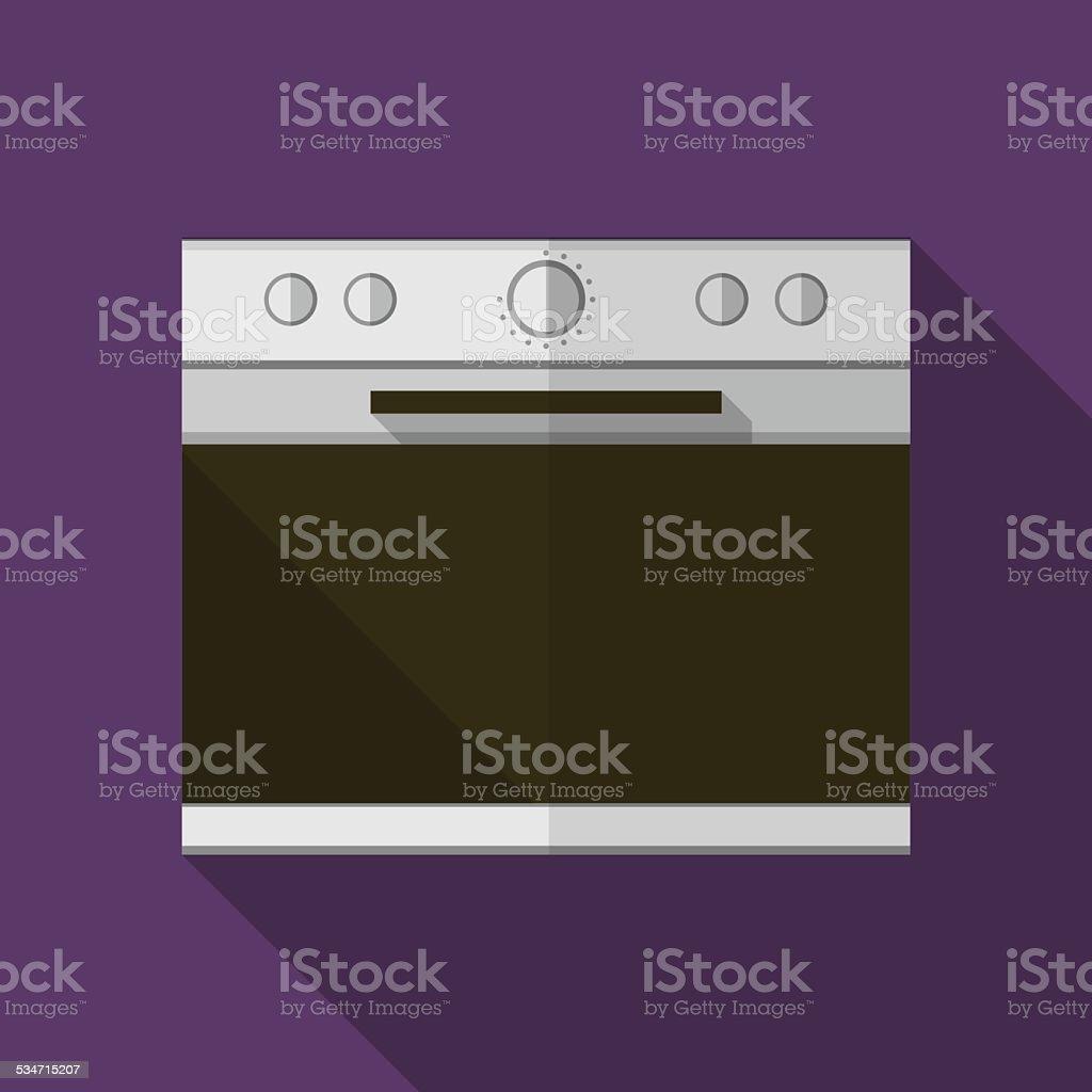 Gray stove flat vector icon vector art illustration