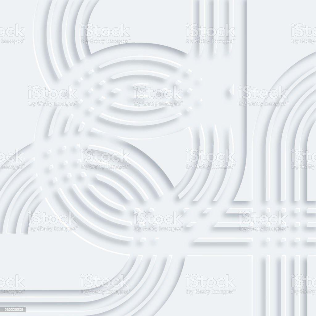 3D gray stripe pattern vector art illustration