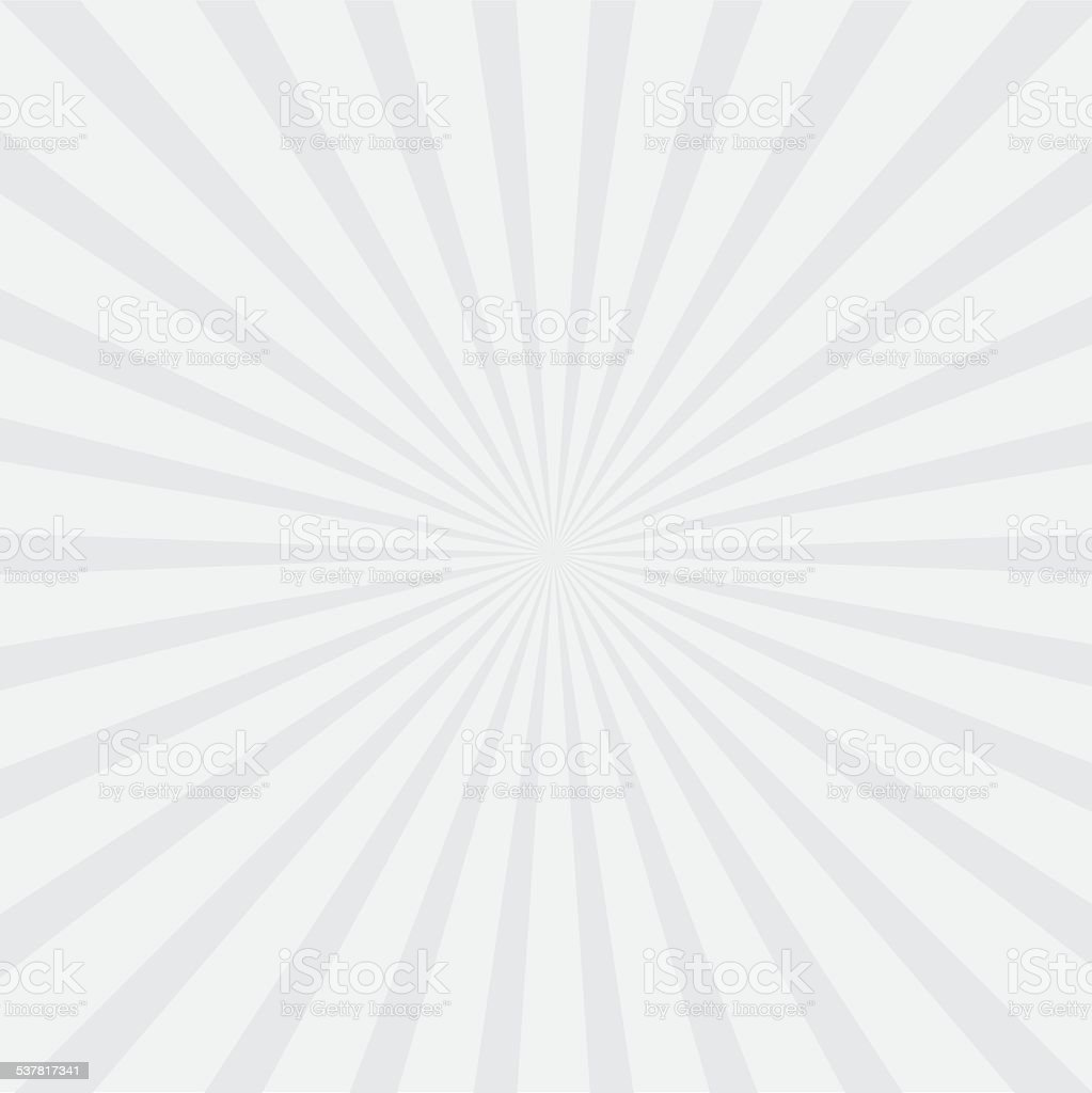Gray sunburst with ray of light. Template background vector art illustration