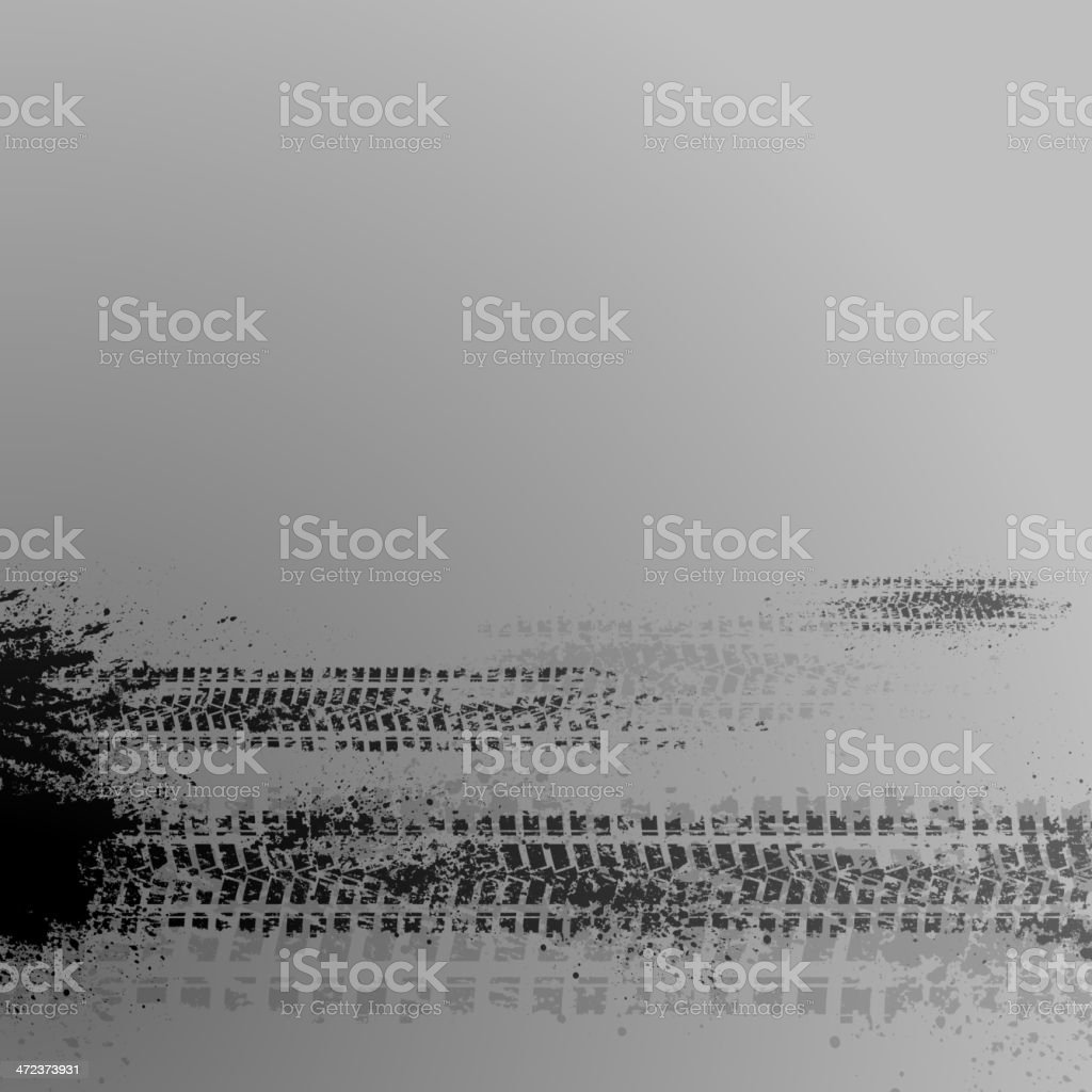 Gray tire track background royalty-free stock vector art