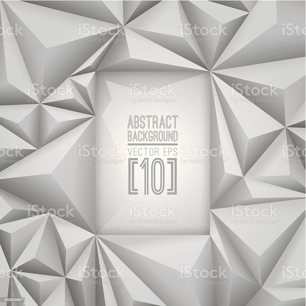 Gray vector geometric background. royalty-free stock vector art