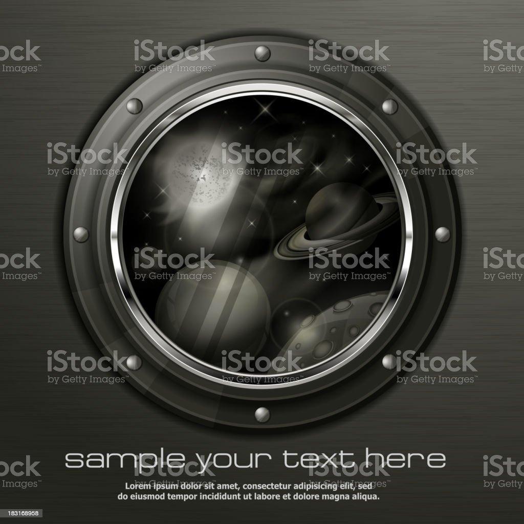 Grayscale porthole royalty-free stock vector art